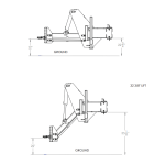 Agco Planter Hitch technical drawing