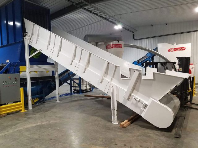 Recycling conveyor