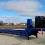 Hydraulic power pack on trailer