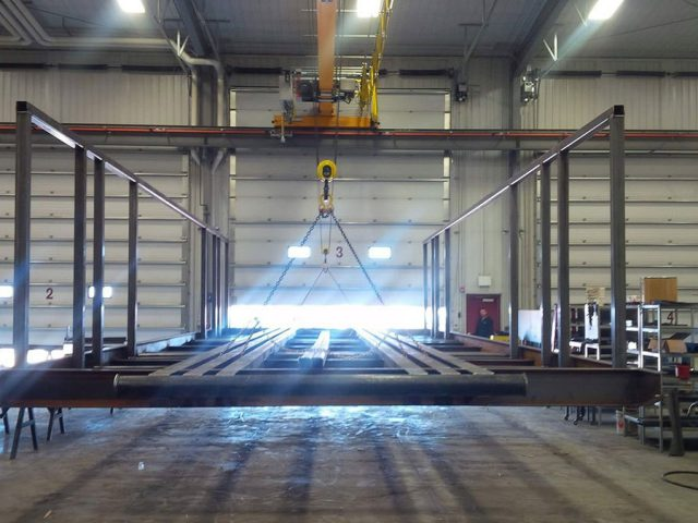 portable shop frame and rig mating