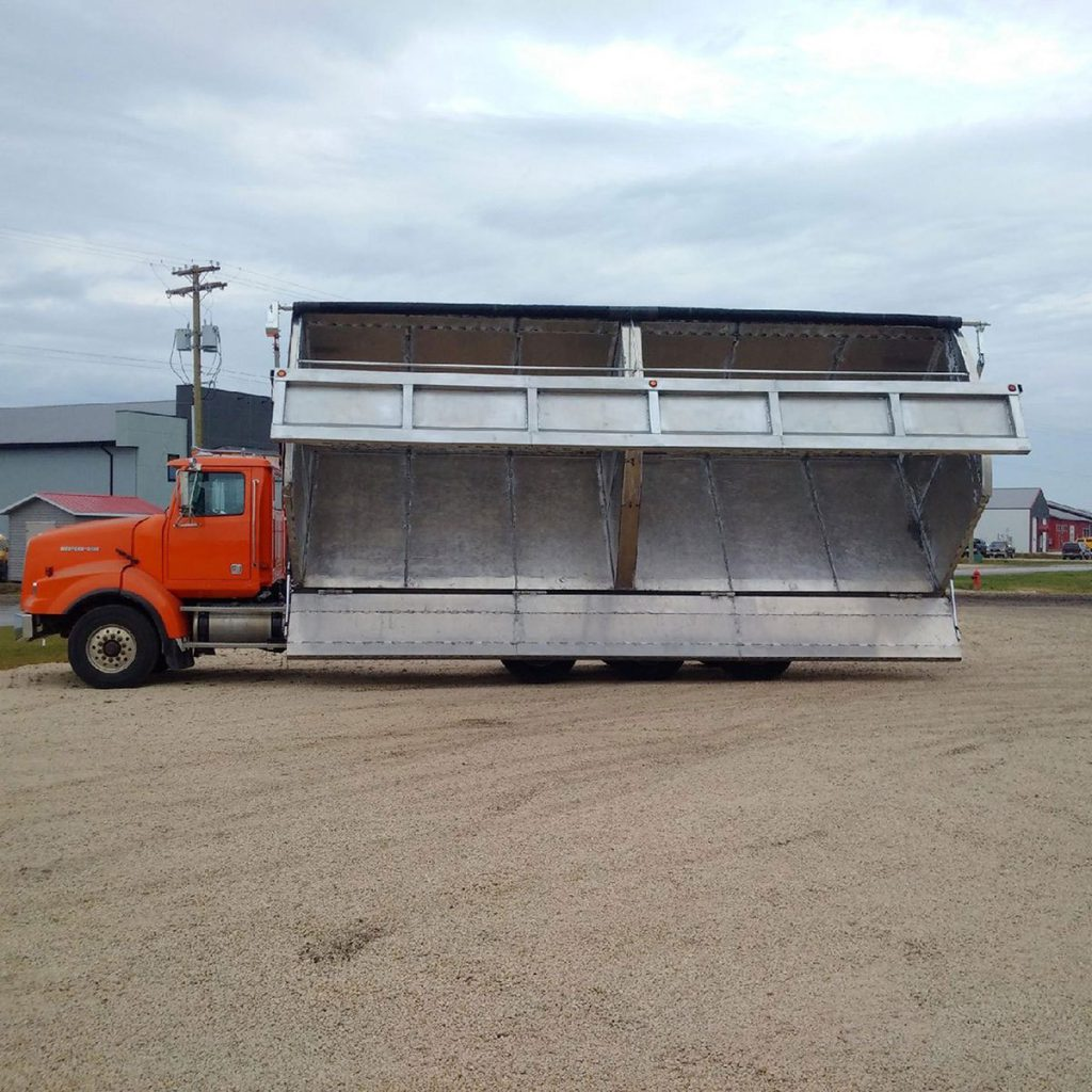 aluminum side dump box