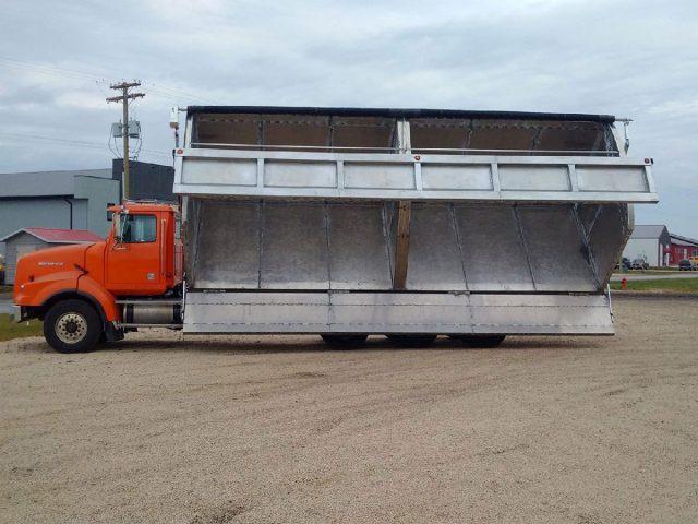 aluminum side dump box